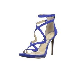 Jessica Simpson Roelyn Leather Strappy High Heels Size 7